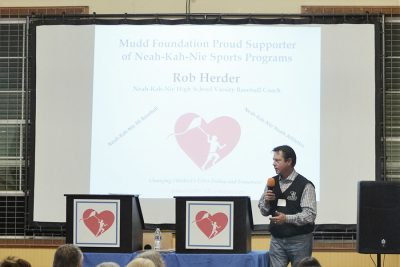 Coach Rob Herder at 2016 Fundraising Event