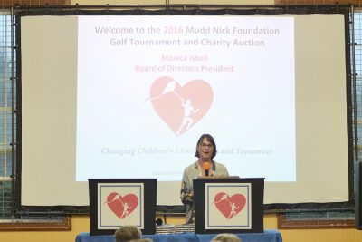 Monica Isbell President of Mudd Nick Foundation at 2016 Fundraising Event