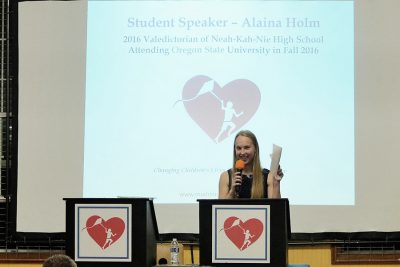 Alaina Holm at 2016 Fundraising Event